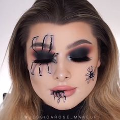 Looking for for inspiration for your Halloween make-up? Browse around this website for cute Halloween makeup looks. Cute Halloween Makeup, Halloween Eyes, Halloween Nails, Women Halloween, Halloween City, Halloween Zombie, Halloween Projects, White Contacts Halloween, Sugar Skull Halloween Makeup