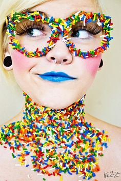 Kel-Z Photography - Extreme Makeup - Candy Girl Candy Girls, Costume Bonbon, Costume Carnaval, Maquillage Halloween, Halloween Makeup, Candy Makeup, Eye Candy, Clown Makeup, Extreme Makeup
