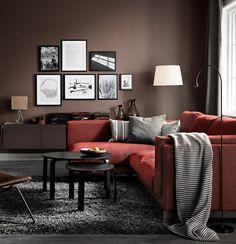 Catalogue Ikea 2017 Canape Rouge Tapis Cosy Peinture Marron