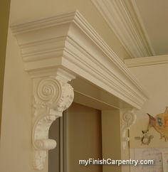 Great coffered ceiling out of simple 1x6 boards and basic for Over door decorative molding