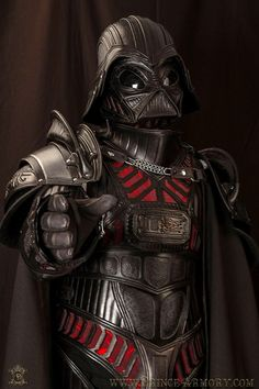 Leather Medieval Armor Styled After Darth Vader