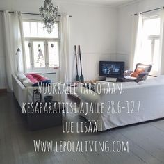Lepola Living | Lepola on 1900-luvun alussa rakennettu hirsitalo, jossa tehdään etätöitä ja vietetään vapaa-aikaa kunnostaen vanhaa taloa ja...