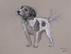 Beautiful Jack Russell Terrier LE print 'Waggy Tail' individually signed
