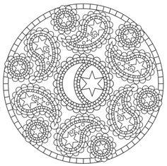 Mandala 651, Creative Haven Paisley Mandalas Coloring Book, Dover Publications