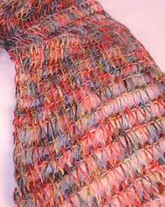 CrochetKim Free Crochet Pattern | Tunisian Drop Stitch Scarf