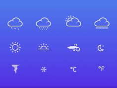 Weather Icons - Free sketch resource for download #sketchhint #sketch #resource #app #freebie #free
