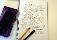 Hand Drawn Typography by Kate Gribble, via Behance