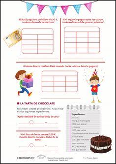 Proyectos ABN / Mates. La fiesta de cumpleaños 🍰 Map, School, Kids Math, Note Cards, Party, Blue Prints, Entryway, Bom Dia
