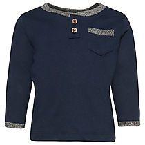 Langarm T-Shirt im Henley-Look für Babies (zweifarbig, langärmlig mit Henley-Kragen und halber Knopfleiste) - TOM TAILOR