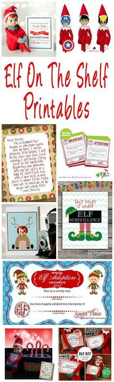 40 Fun & Creative Christmas Elf On The Shelf Printables Elf On The Shelf printables. Planners, welcome and goodbye letters, report cards, activity cards, photo booth props and accessories. Christmas Activities, Christmas Traditions, Kindergarten Christmas, Family Traditions, Elf On The Shelf, Shelf Elf, Holiday Crafts, Holiday Fun, Winter Holiday