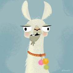 betowers: Llama o k ase . Alpacas, Art And Illustration, Animal Illustrations, Camelus, Llama Arts, Art Drawings, Artsy, Sketches, Art Prints