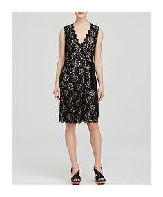 Diane von Furstenberg Wrap Dress - Julianna Two Lace - on #sale 30% off @ #Bloomingdale's  #DianeVonFurstenberg