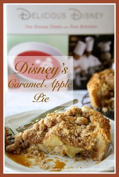 Disney's Caramel-Apple Pie!  Simple and delicious Autumn Dessert by whatscookingwithruthie.com #recipes #apples #dessert