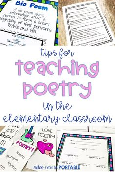 Fabulous ideas for teaching poetry in elementary classroom. These poetry activities made learning fun!
