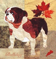 Summer's End Block #3  Bulldog and Sugar Maple from Summer's End Quilt by Maggie Walker -  applique pattern