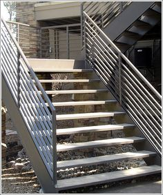 1000 images about staircase on pinterest staircases for Exterior steel stair design