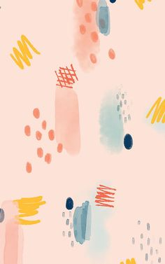 Blue & Pink Abstract Paint Brush Stroke Wallpaper Mural | Hovia
