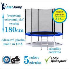Obrázok pre Trampolína JUSTJUMP 312 cm za 98,-€ + rebrík + ochranná sieť