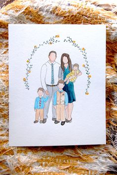 Hey, I found this really awesome Etsy listing at https://www.etsy.com/listing/254838887/custom-watercolor-family-portrait