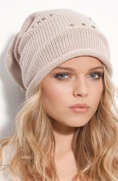 Tasha Studded Slouchy Beanie (even though I can never pull off beanies)