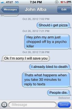 This person dropping guilt bombs. | 17 Perfect Responses For When Someone Doesn't Text Back