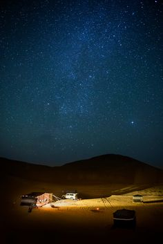 Camp under the stars together in the desert in Oman.