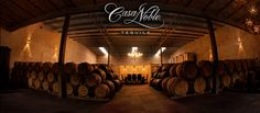 The Casa Noble barrel room, where we age our handcrafted tequilas in new French white oak barrels made by Taransaud Tonnellerie