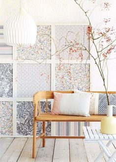 Even better than a fun, bold wallpaper choice is the chance to double down and also install it in a fresh way