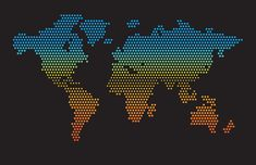 Dotted map world Planets, Vector Free, Globe, Asia, Dots, Crafting, Europe, Ocean, Australia