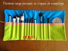 Les Astuces de Fée Paillette: TUTO COUTURE : pochette range pinceaux ou crayons ...