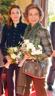 Queen Sofia and HRH Crown Princess Letizia of Spain 11/29/2013