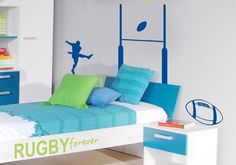 Chambre enfant rugby