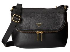 Fossil Preston Small Flap Black - Zappos.com Free Shipping BOTH Ways