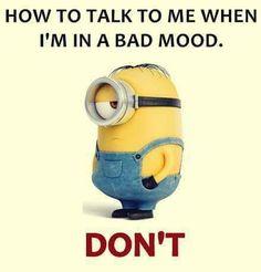 Bad mood...
