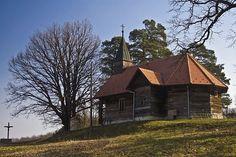 #Wooden #churches of #Turopolje (plain near #Sava and #Kupa #rivers south of #Zagreb), #Croatia