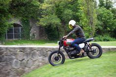 Riding BAAK's Triumph Scrambler in Lyon, France.