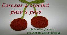 SERIE FRUTAS A CROCHET— Cerezas paso a paso— | Crochet.eu Crochet Earrings, Youtube, Crochet Appliques, Crochet Flowers, Dish Towels, Cherries, Tutorials, Crocheting, Manualidades