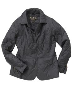Women's Navy Barbour Quilted Jacket.