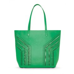 Stella & Dot Fillmore Tote - Kelly Green ($138) ❤ liked on Polyvore