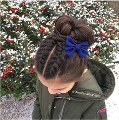 Ideas How To Hairstyles For School Cute Hairstyles For Kids, Baby Girl Hairstyles, Hairstyles For School, Braided Hairstyles, Short Hairstyles, Toddler Hairstyles, Girl Hair Dos, Girl Short Hair, Gymnastics Hair