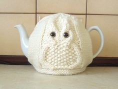 Owl knitted tea cosy for your teapot. Fits 2 by CraftyCornishMaids                                                                                                                                                                                 More
