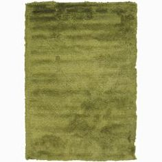 Handwoven Bright Green Mandara Shag Rug (9' x 13'), $640 ish