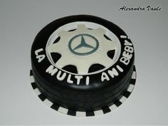 Mercedes wheel cake - Cake by alexandravasile