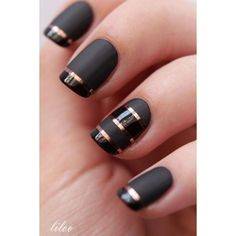 60 Pretty Matte Nail Designs ❤ liked on Polyvore featuring beauty products, nail care, nails and accessories