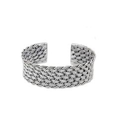 NOVICA Thai Handcrafted Woven Sterling Silver Cuff Bracelet (10,335 INR) ❤ liked on Polyvore featuring jewelry, bracelets, clothing & accessories, cuff, sterling silver, sterling silver hinged cuff bracelet, cuff bracelet, novica, handcrafted jewelry and sterling silver bangles