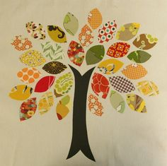 fabric tree #sewing #crafts #fabric