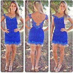 Lace V-neck Sleeveless Backless Short Dress