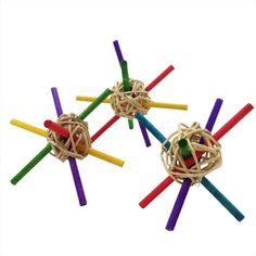 Chinchilla Toss Toys - These are what I used to make and sell over on Ebay. Only difference was I used larger willow balls and put more sticks in them.