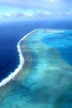 Perfect, blue water. Aitutaki (outer motu) Cook Islands, South Pacific www.facebook.com/loveswish