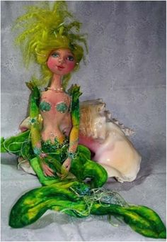 """*NEW* CLOTH ART DOLL CD PATTERN """"LORELEI"""" BY PATTI CULEA - PRICE REDUCED!!! NOW $18.00 - 30% OFF  #PMCDesigns"""